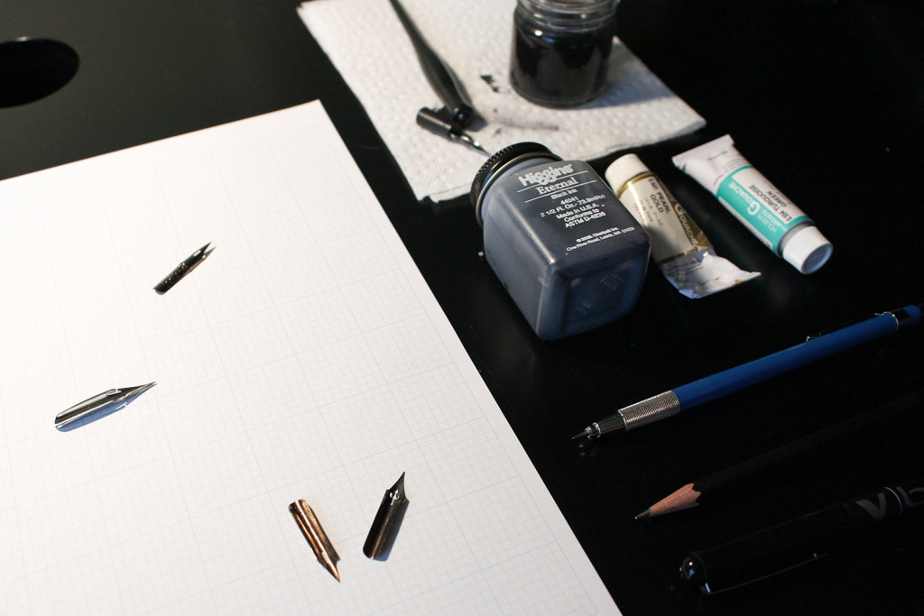 A starting point for beginners in the quest to learning the tricks and tools of modern calligraphy.