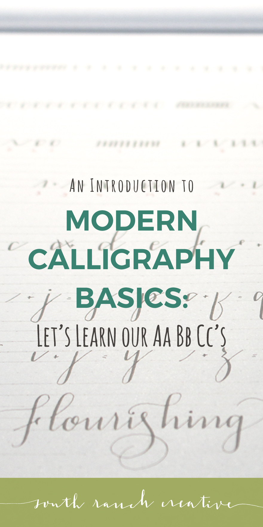 Modern Calligraphy Basics Lets Learn Our AaBbCcs