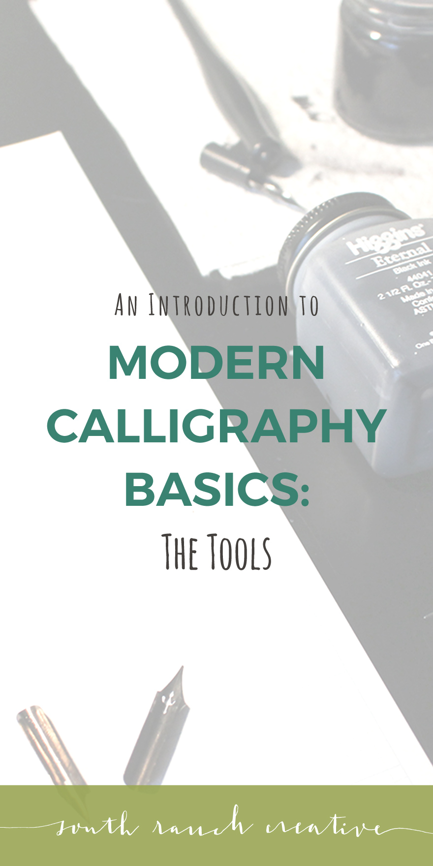 A starting point for beginners in the quest to learning the tricks and tools of modern calligraphy. Includes exact supplies and suggestions on where to buy!