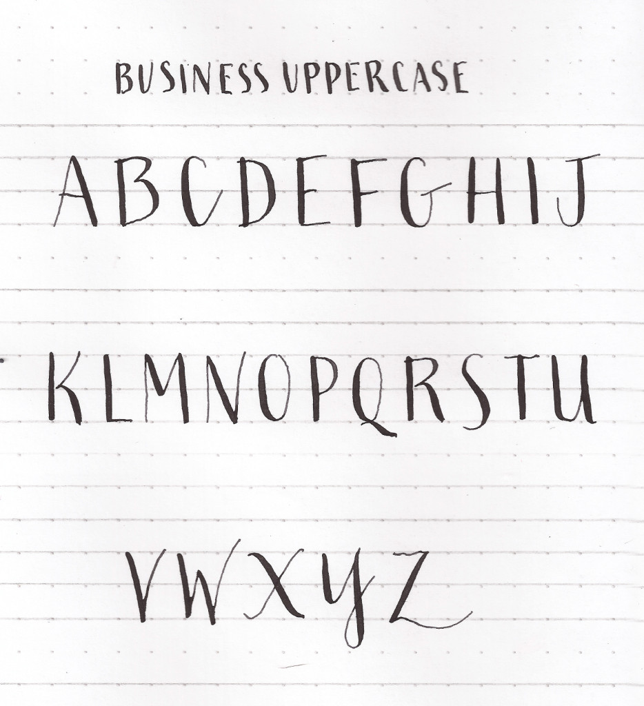 Learn uppercase capital letters | Modern Calligraphy Basics