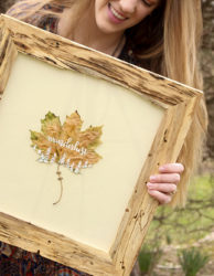 Wanderlust Framed Painted Leaf