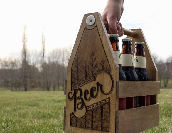 Caddies + Coasters | Wood Burned Barware
