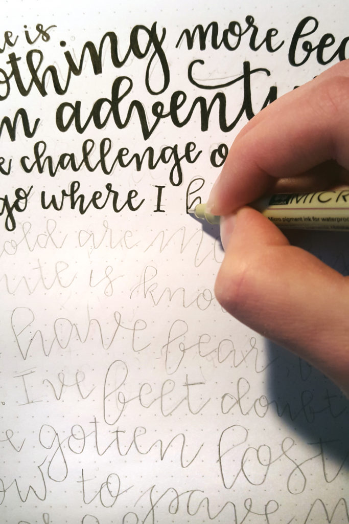 Process shot of hand lettering Voice A Story Magazine's Mission Statement. I created this visual mission statement for Voice A Story because I wanted the mission statement to not only tell of our passion and dreams, but show it. A visual portrayal of emphasis, passion, dedication, and most importantly, flaws was built to prove to readers that we mean what we say and we mean. We are here to share stories that matter from people and charities that have something powerful to say.